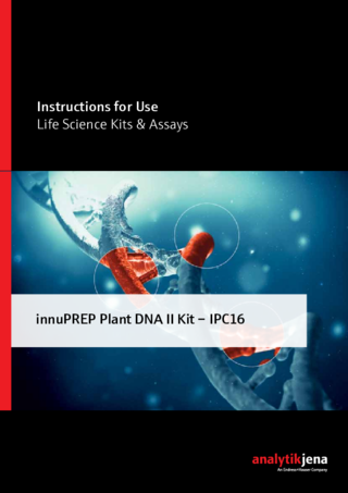 Manual innuPREP Plant DNA II Kit IPC16