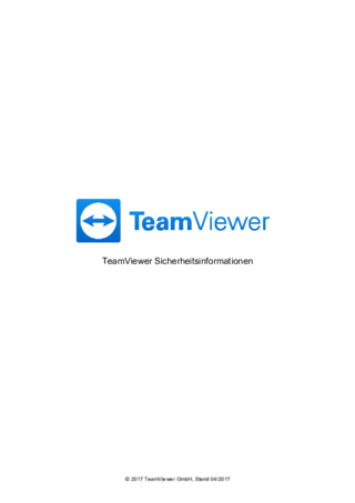 TeamViewer Sicherheitsinformationen (German)