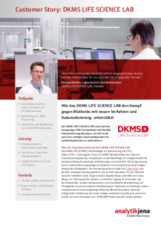 Customer Stroy DKMS LIFE SCIENCE LAB