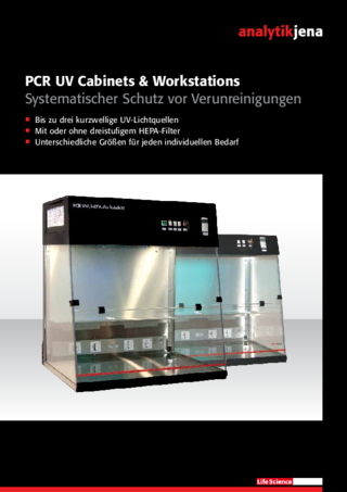 Broschüre PCR UV Cabinets & Workstations (German)